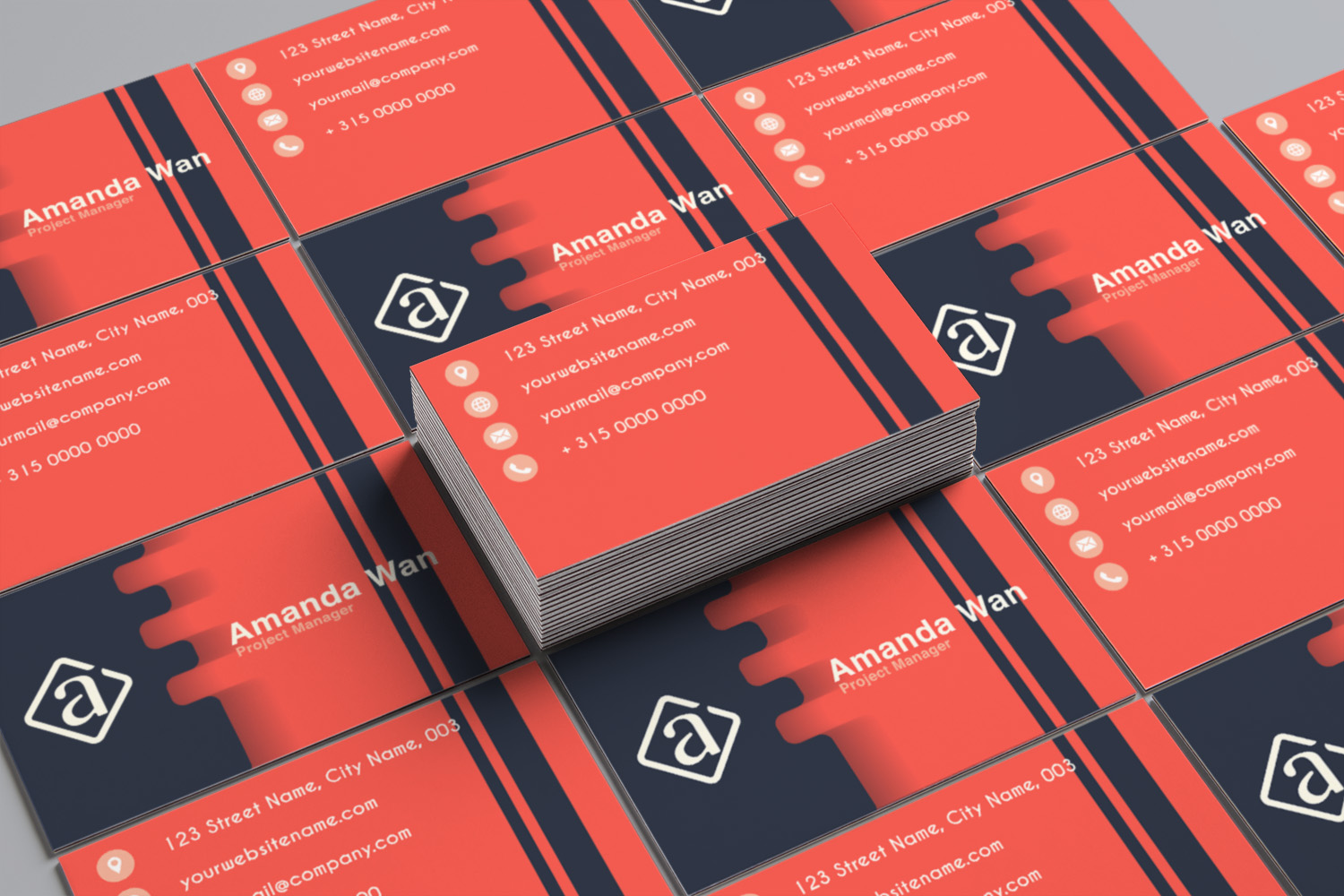 Modern Minimalist Business Card Template example image 2