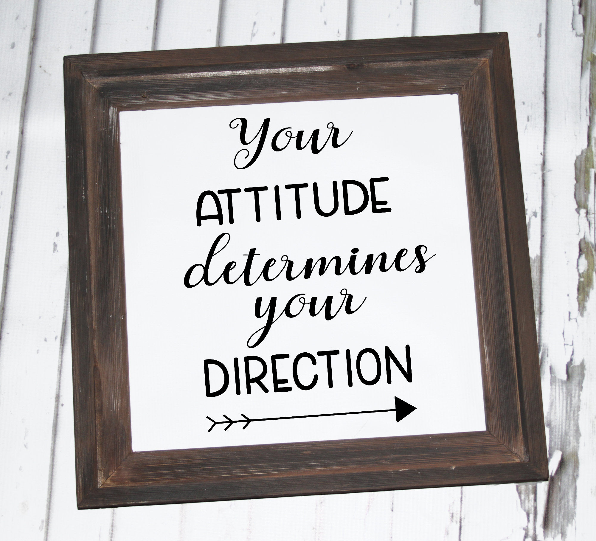 Inspirational SVG - Your attitude determines your direction example image 2