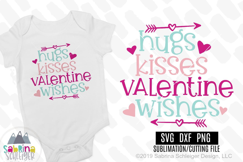 Hugs Kisses Valentine Wishes Valentine Svg Cutting File 192539 Svgs Design Bundles
