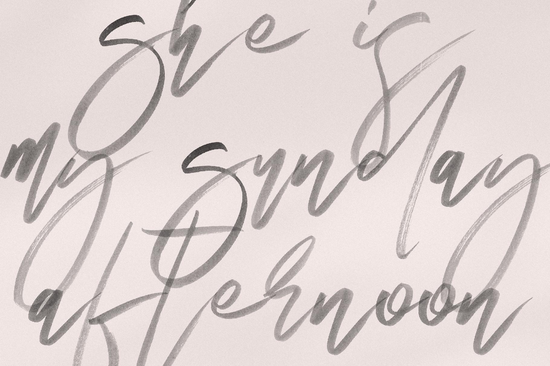 Magic Winter - A Serif/Script Handwritten Font Duo example image 9
