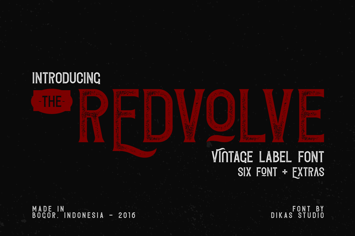 Redvolve Typeface - 6 Font + Extras example image 1