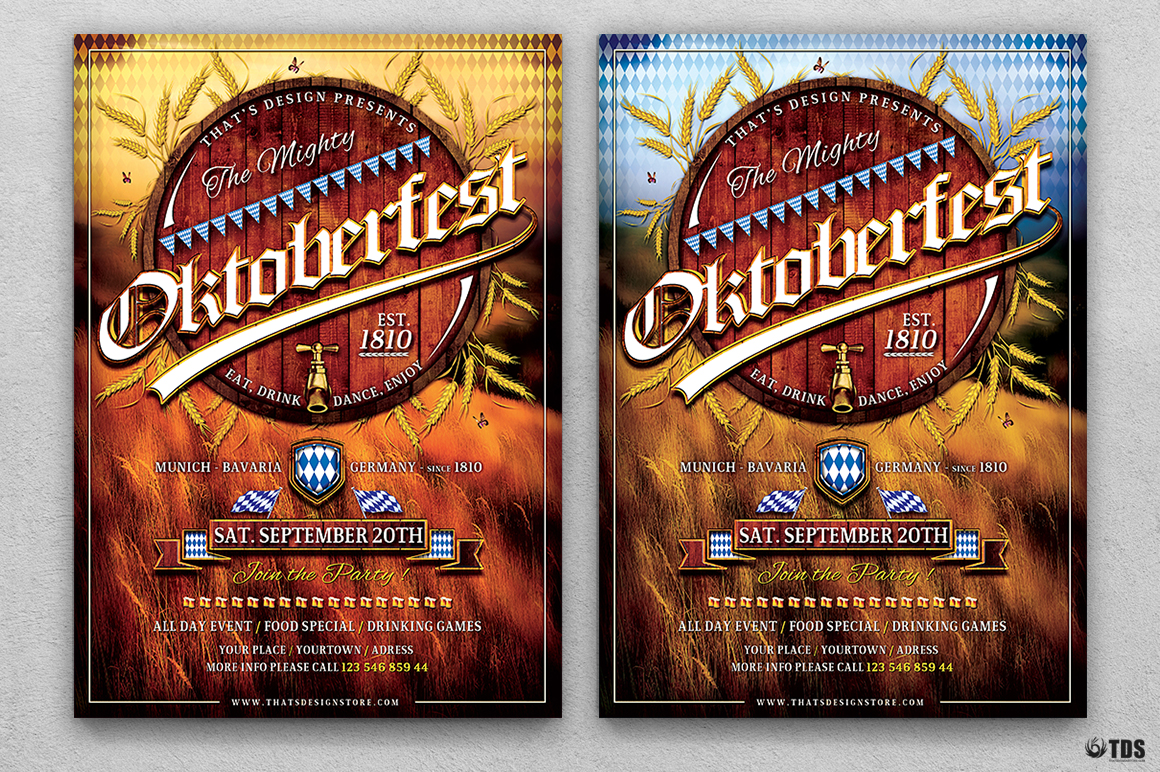 Oktoberfest Flyer Template V2 example image 1