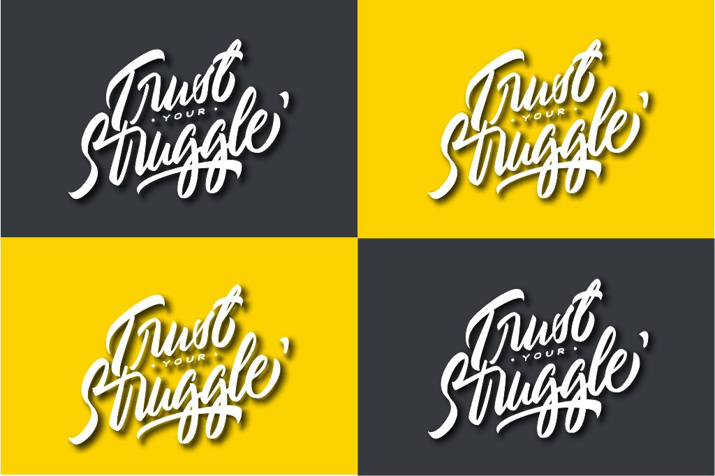 Typography//Trust Your Struggle SVG/PNG example image 2