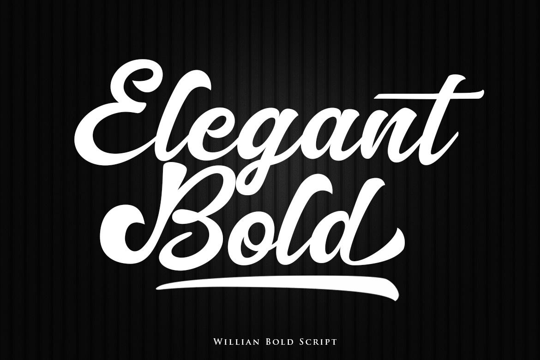 Willian Elegant Bold Script example image 2