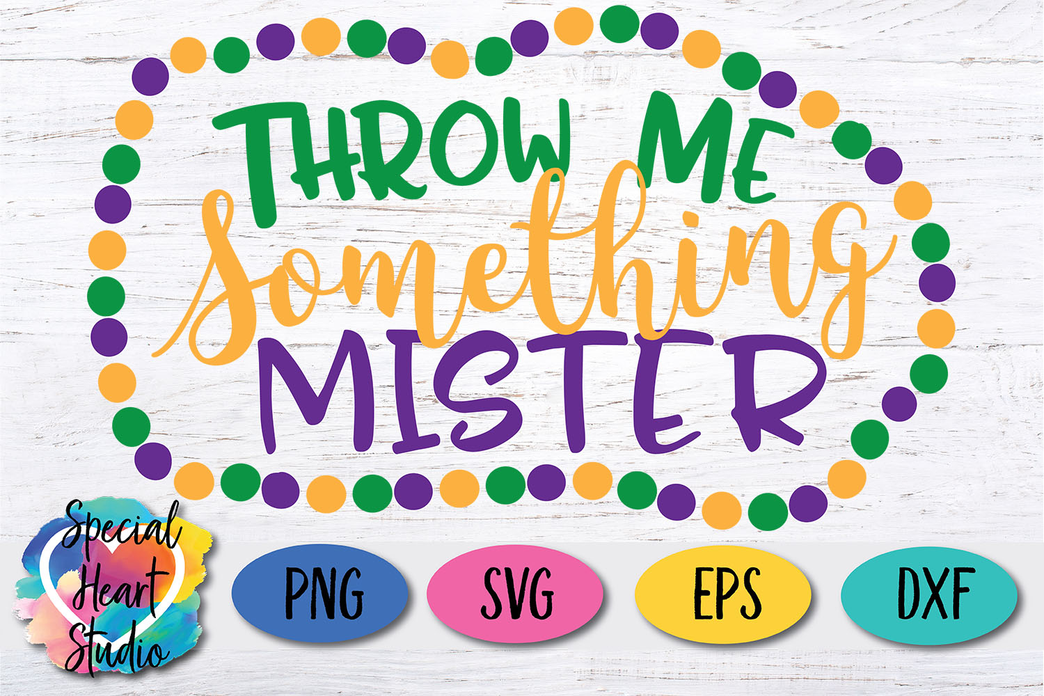 Throw me something mister SVG - A fun Mardi Gras cut file example image 3