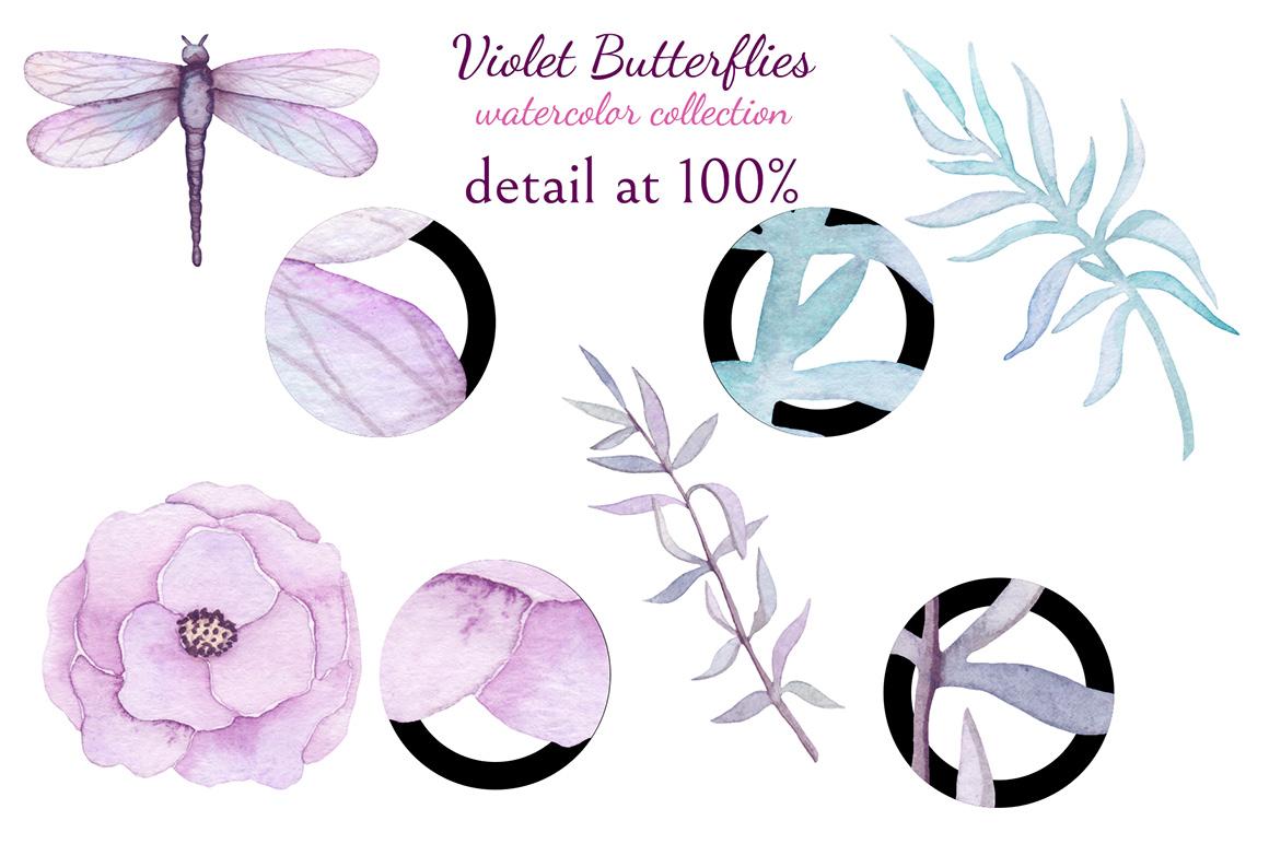Violet Butterflies example image 10