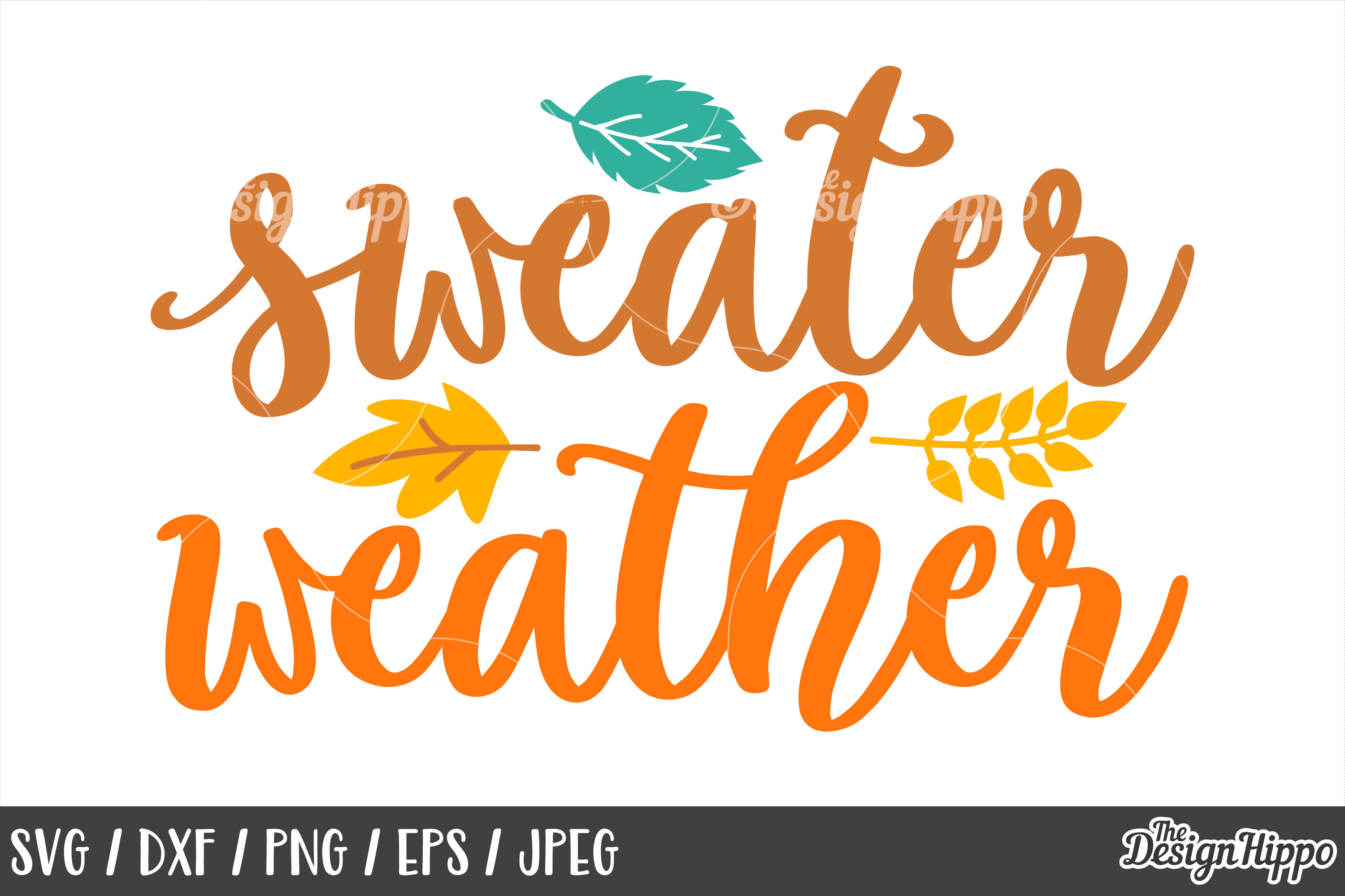 Sweater Weather SVG, DXF, PNG, JPEG, Cut Files, Cricut example image 1