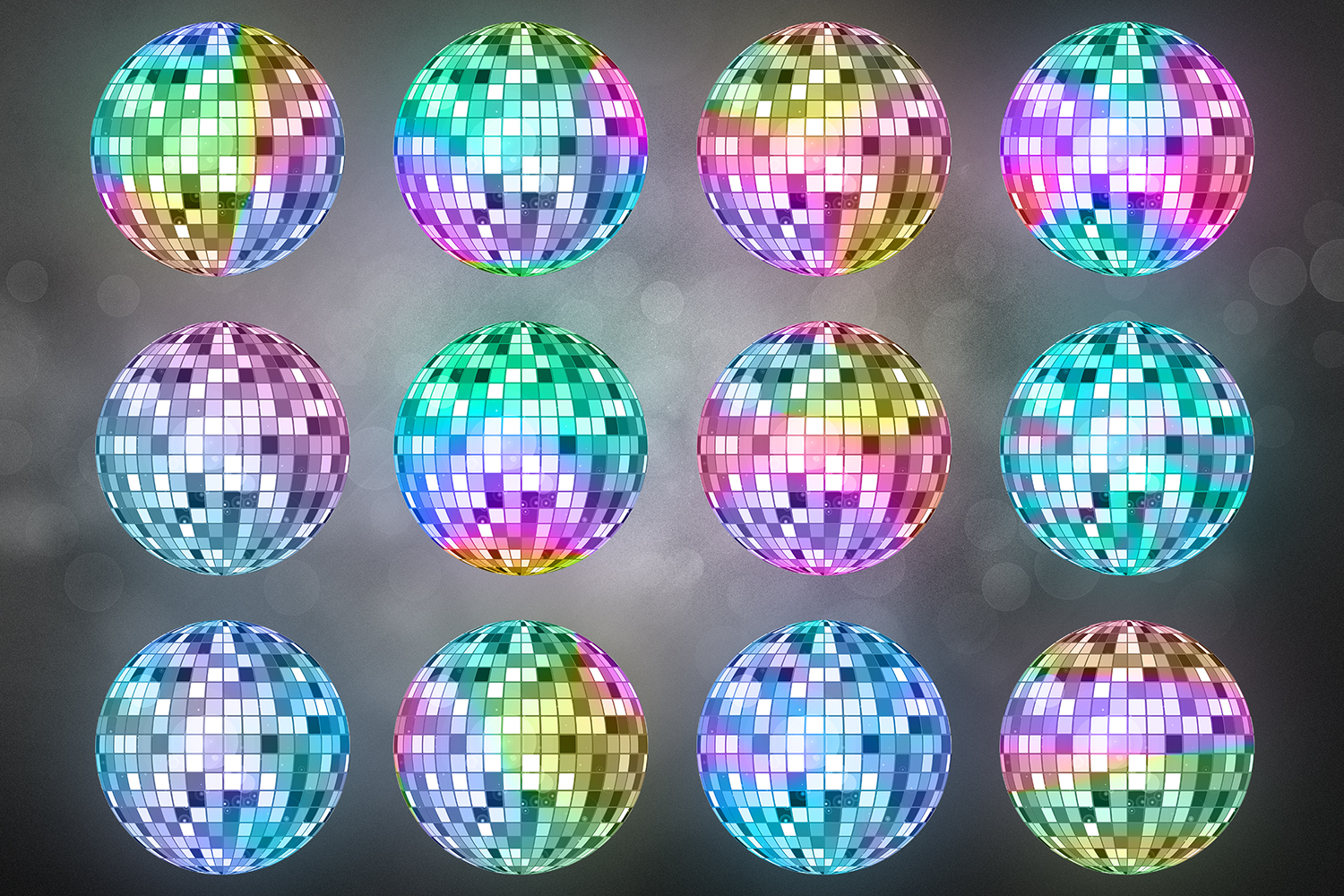 Disco Lights Clipart, Unicorn Party example image 2