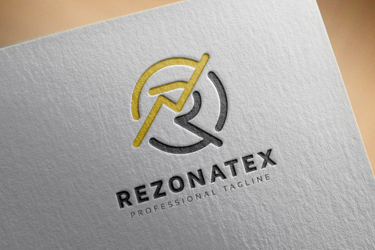 Rezonatex R Letter Logo example image 4