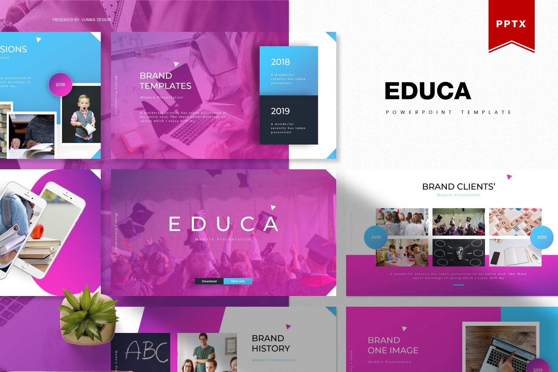 Educa | Powerpoint, Keynote, GoogleSlides Template example image 1
