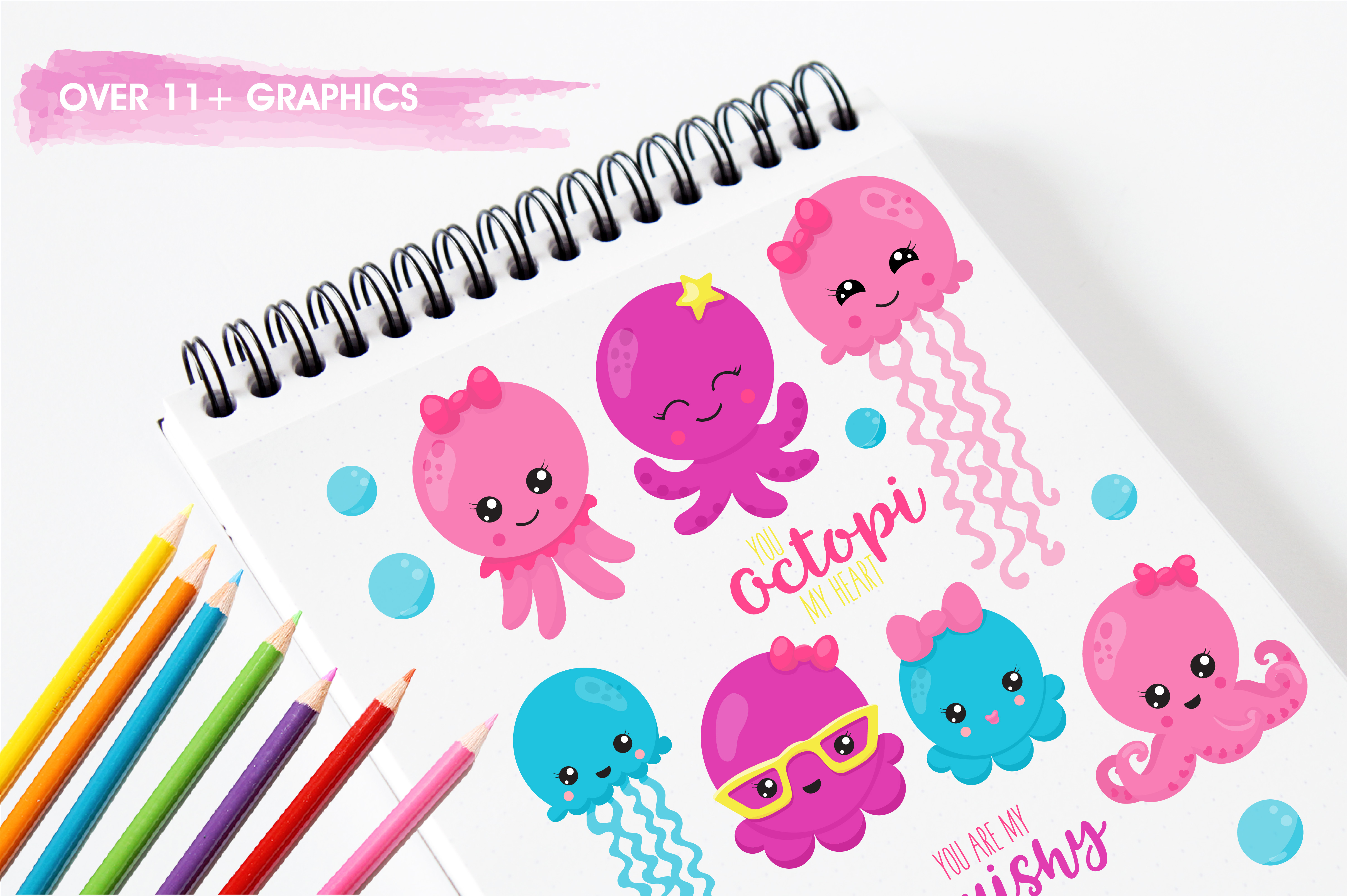 Hipster octopus graphics and illustrations example image 3