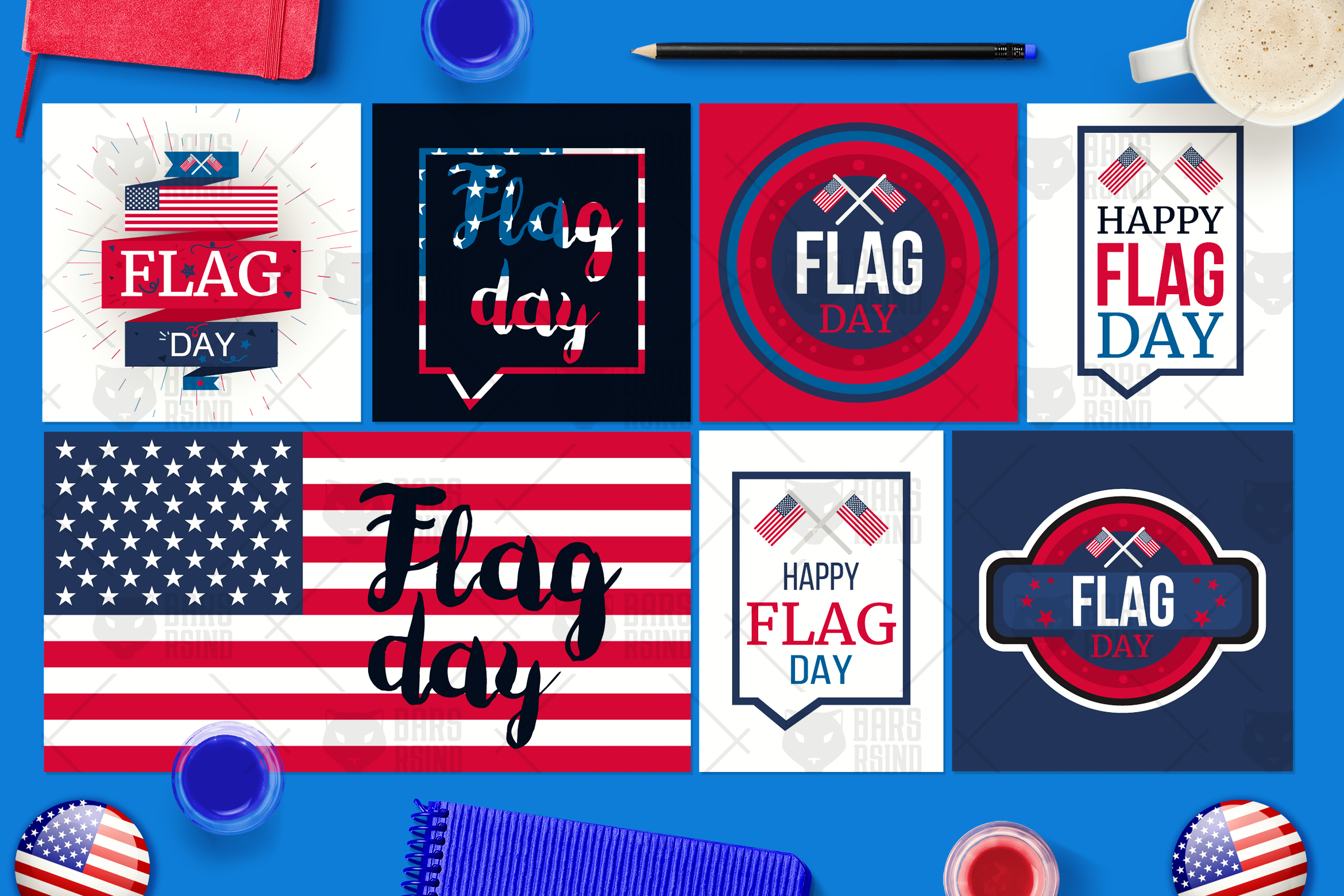 Flag Day Banners example image 1