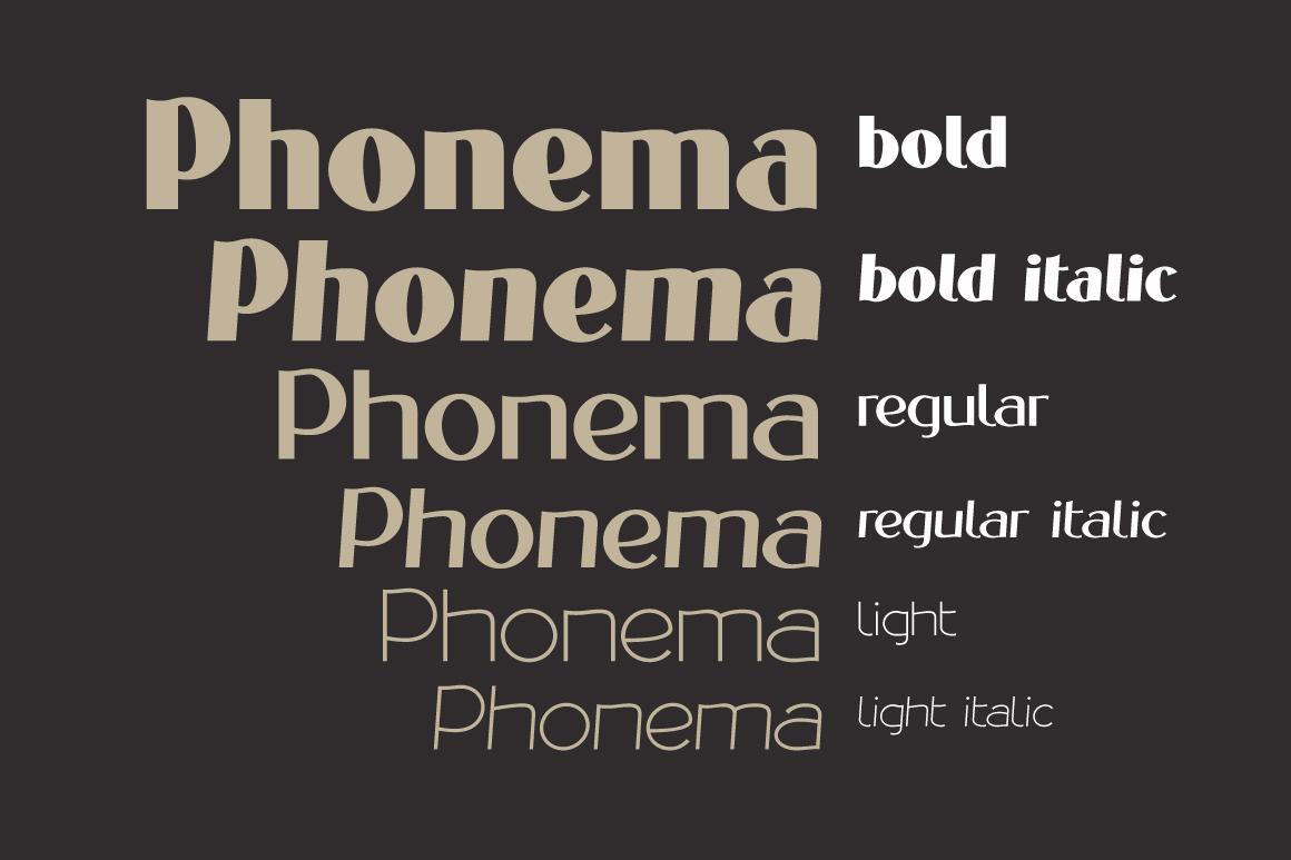 PHONEMA font family example image 3