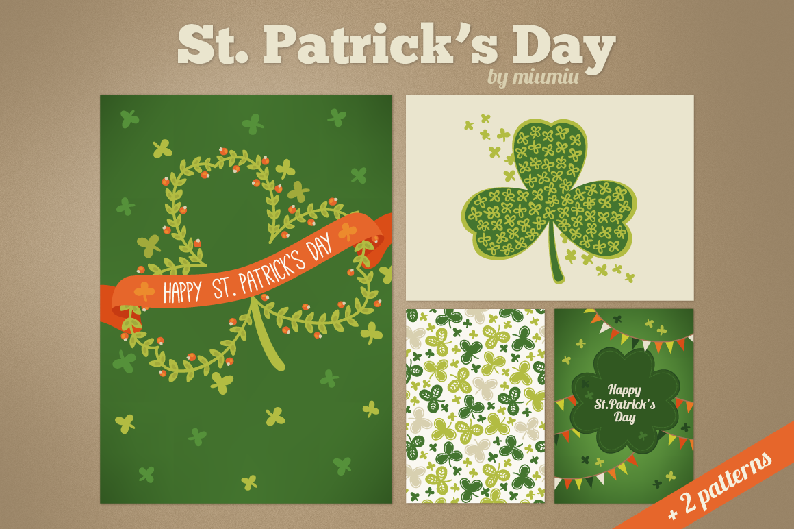 St. Patrick's Day Cards and Patterns example image 1