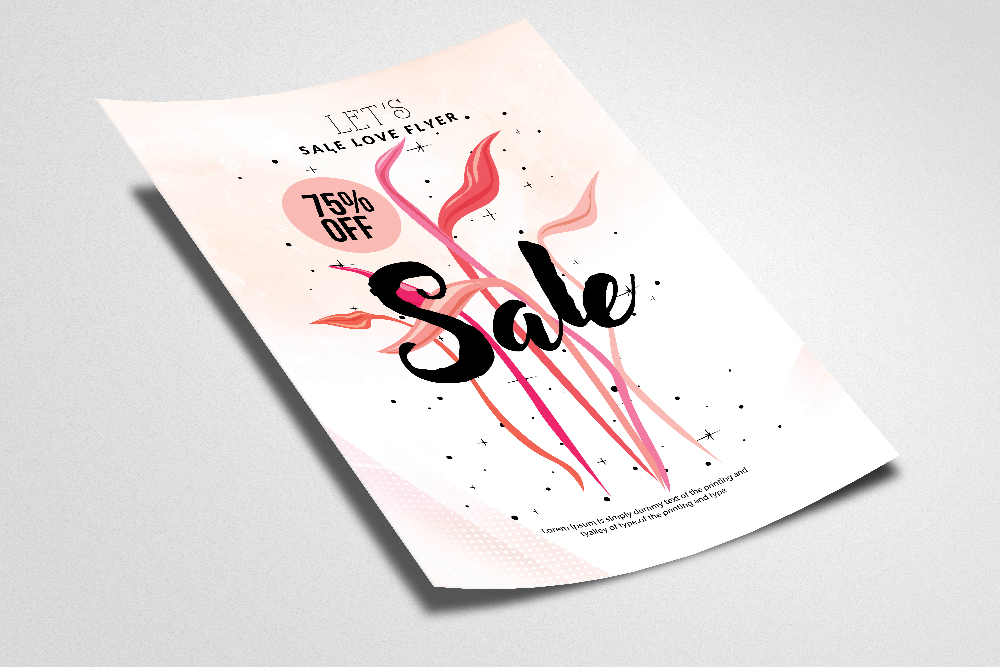 Sale Offer Typography Flyer Template example image 2