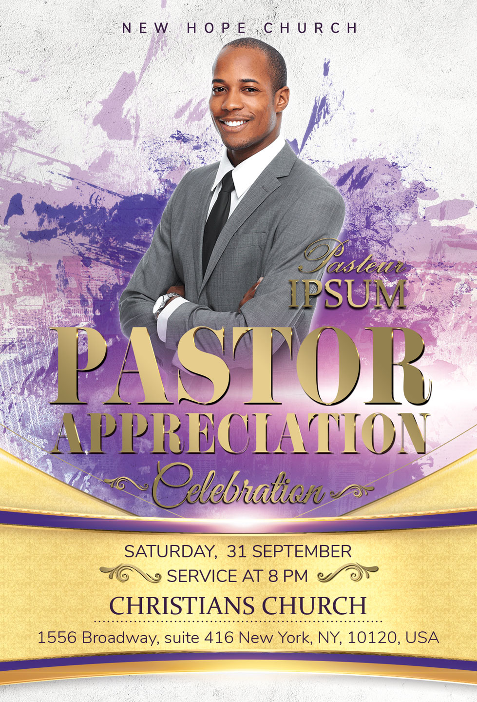 Pastor Appreciation Celebration Church Flyer example image 3