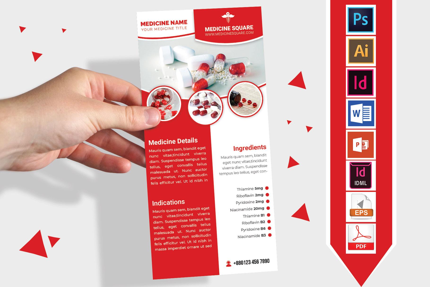Rack Card | Medicine Promotion DL Flyer Vol-03 example image 2
