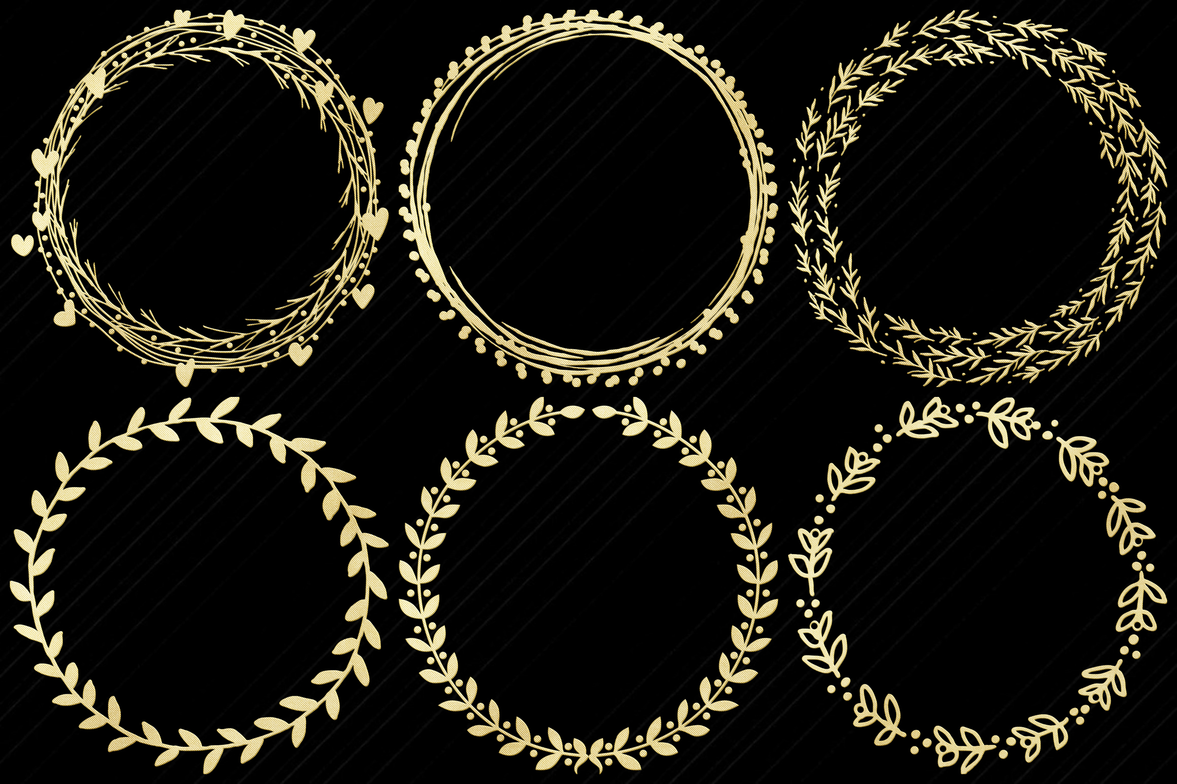 Gold Foil Wreaths Clip Art...Christmas and Other example image 5