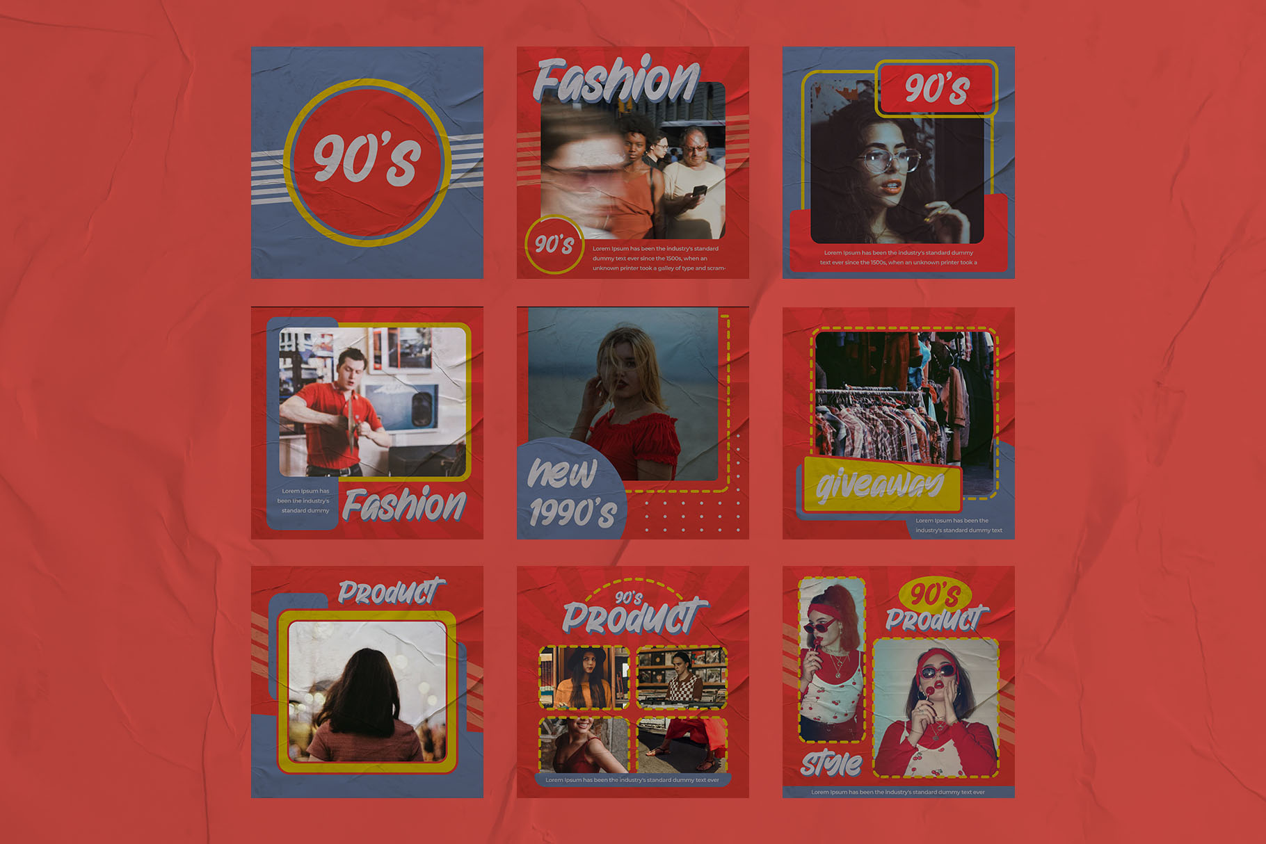 Fashion 90's Instagram Templates example image 3