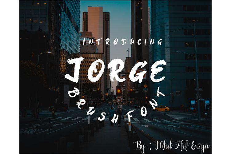 Jorge Brush Font example image 1