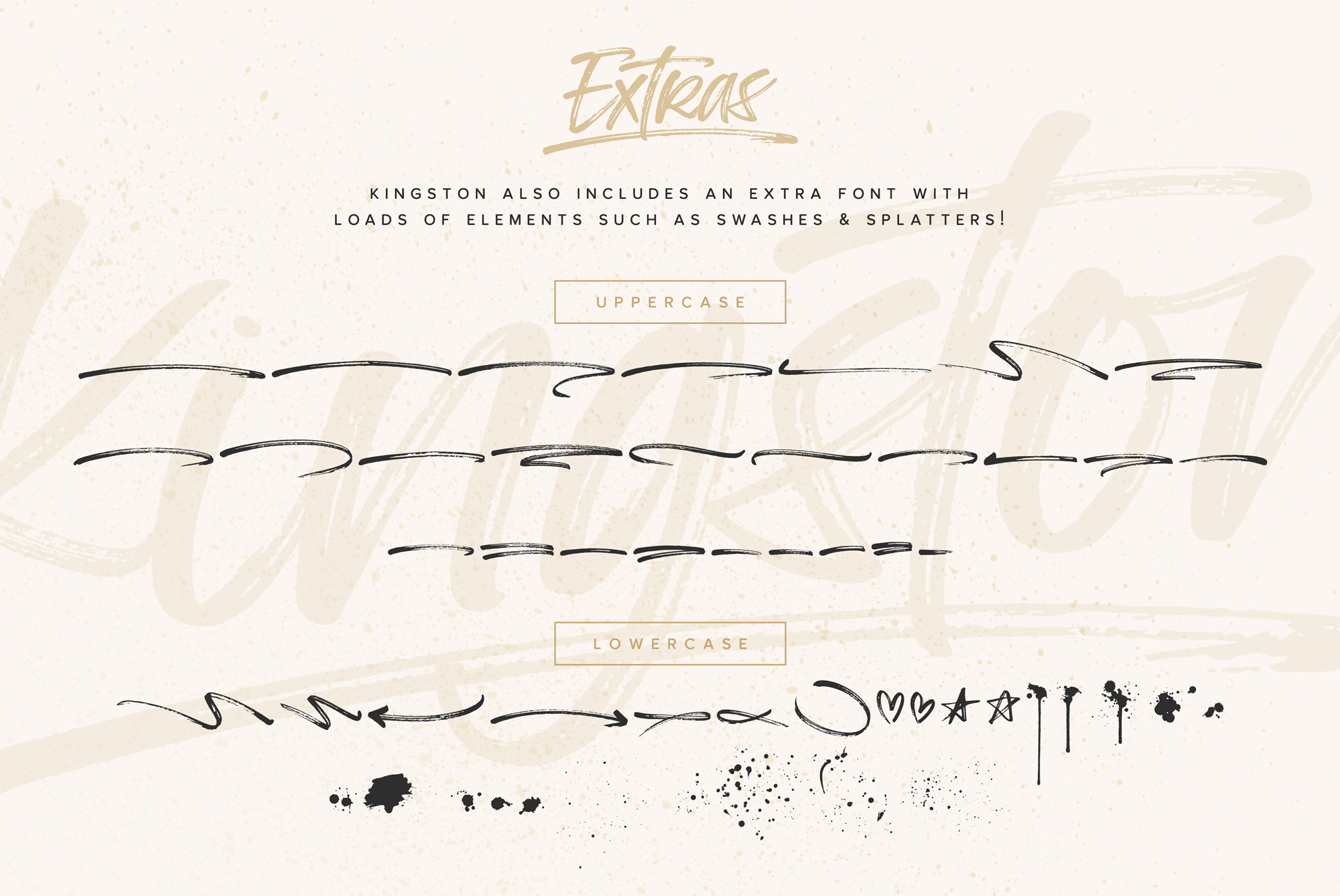 Kingston Handwritten Brush Font And Extras example image 8