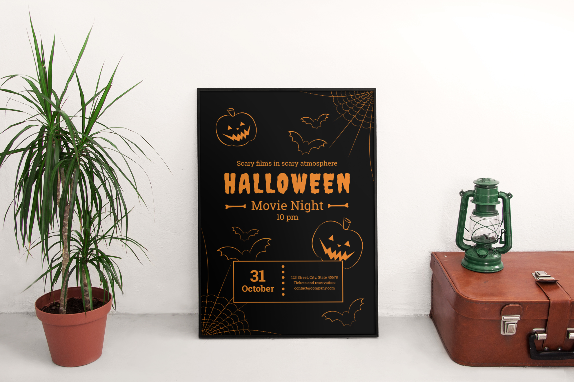 Halloween Movie Night Design Templates Bundle example image 4