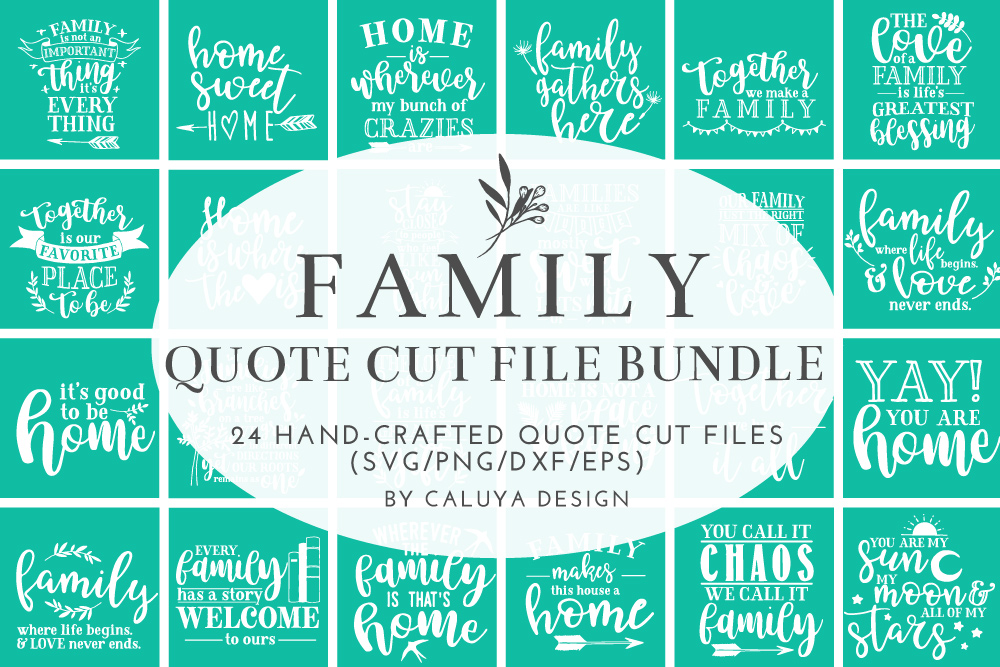 Family Love Quote SVG Cut Files Bundle example image 1