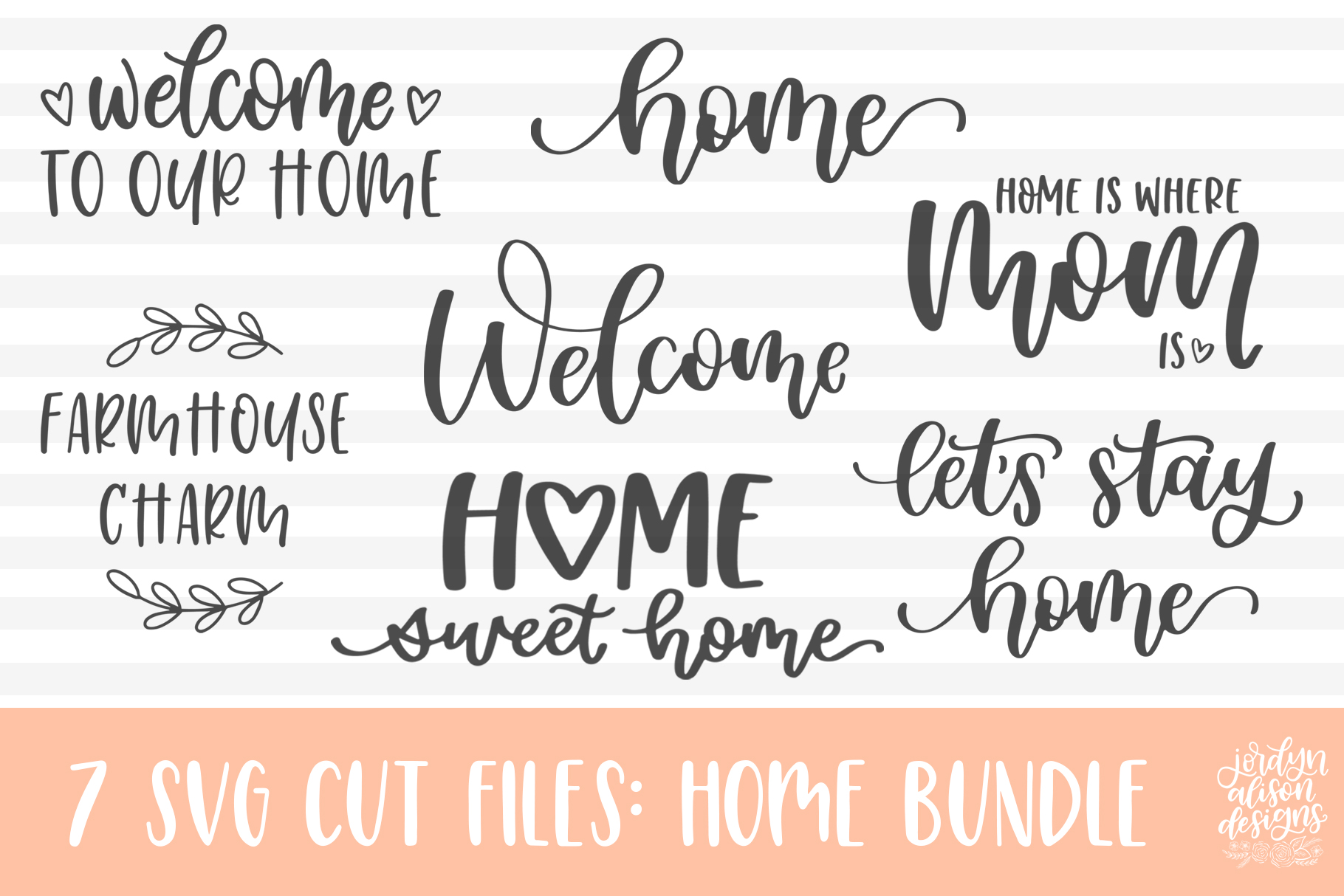 Home SVG Bundle, Welcome to Our Home Bundle example image 5