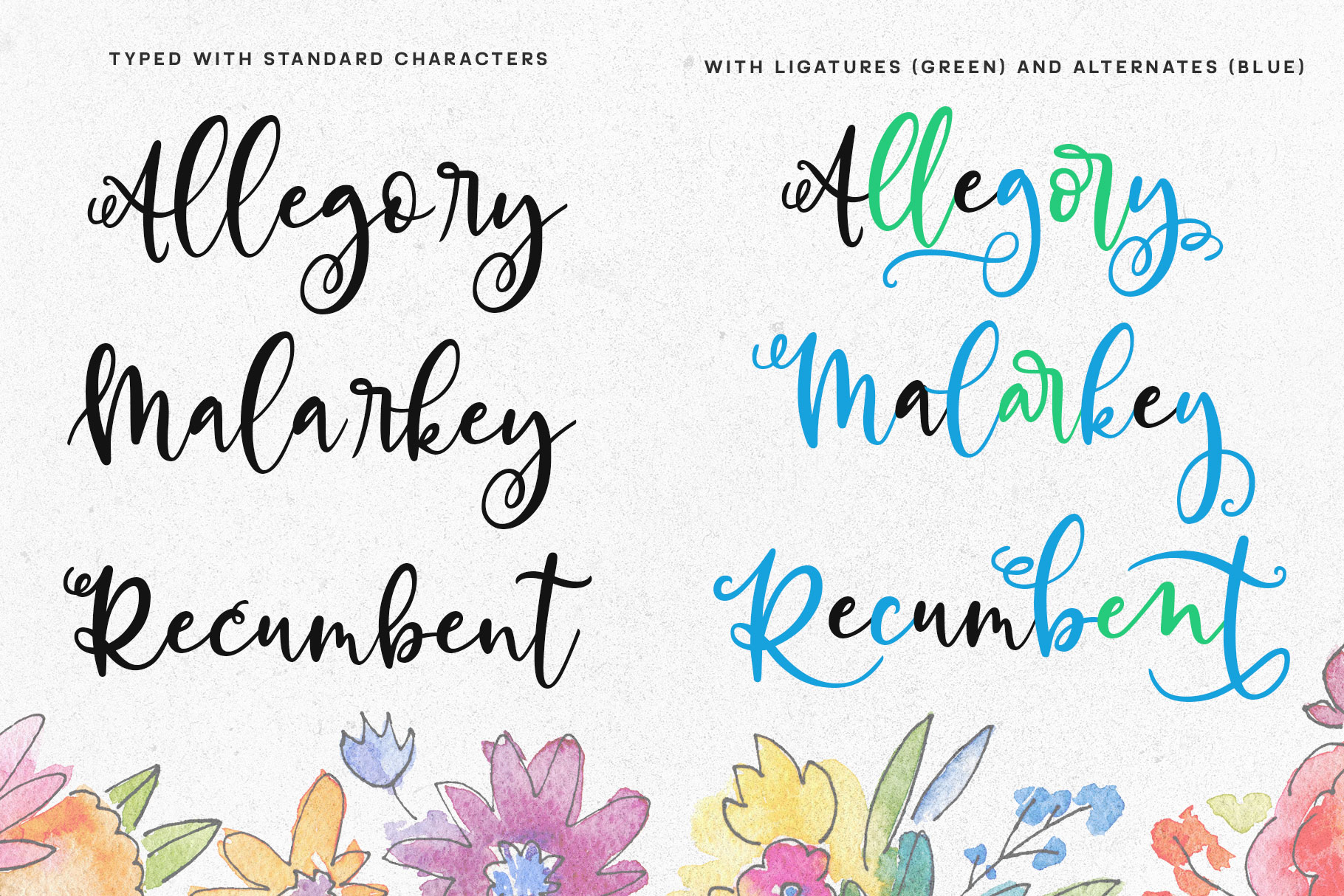 Allegory - a fun and curly script font! example image 6