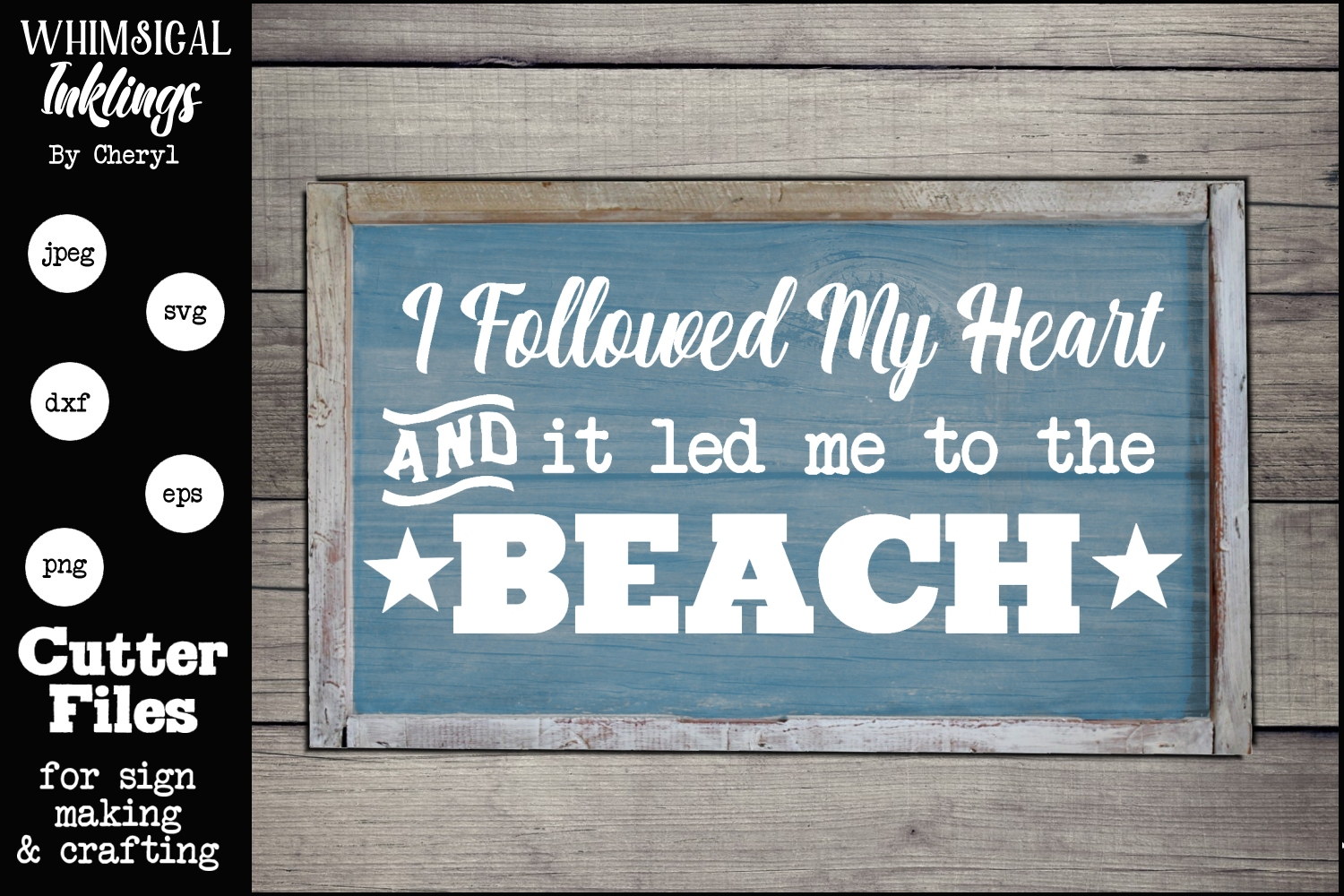 Led Me To The Beach SVG example image 1