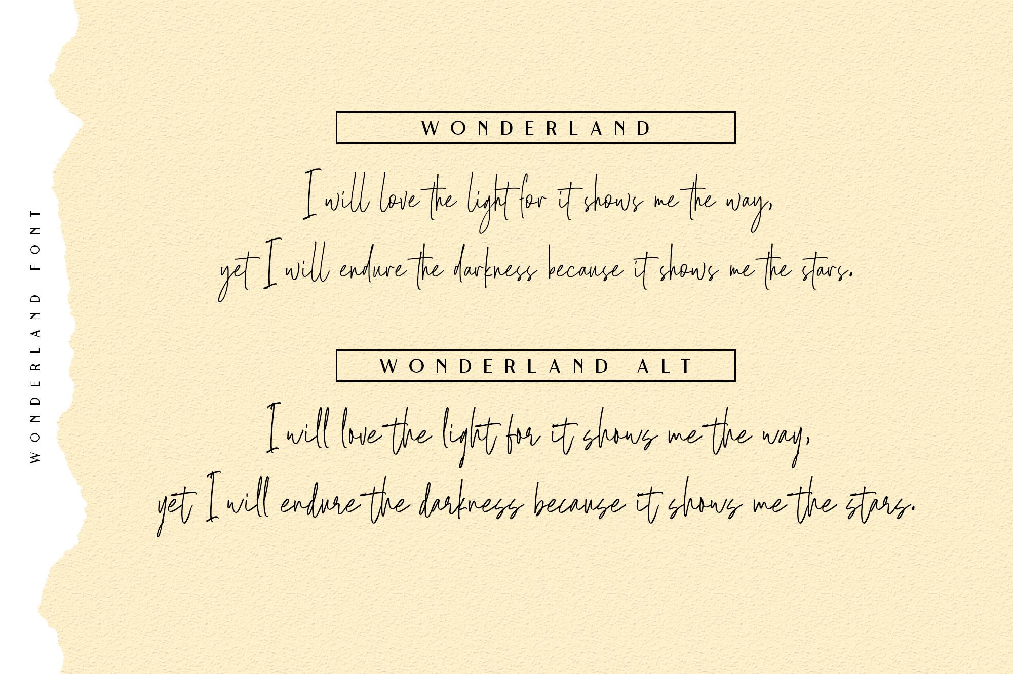 Wonderland | Script & Sans Serif example image 6