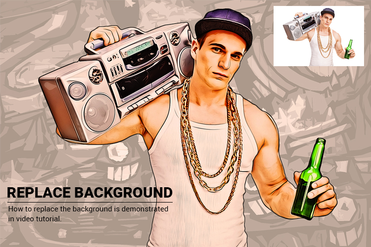 Grand Theft Art Photoshop Action example image 9