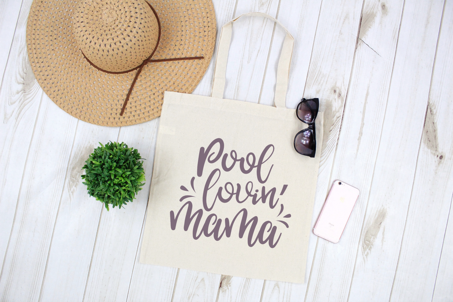 Beach - Vacation - Summer - Pool Lovin' Mama SVG example image 2