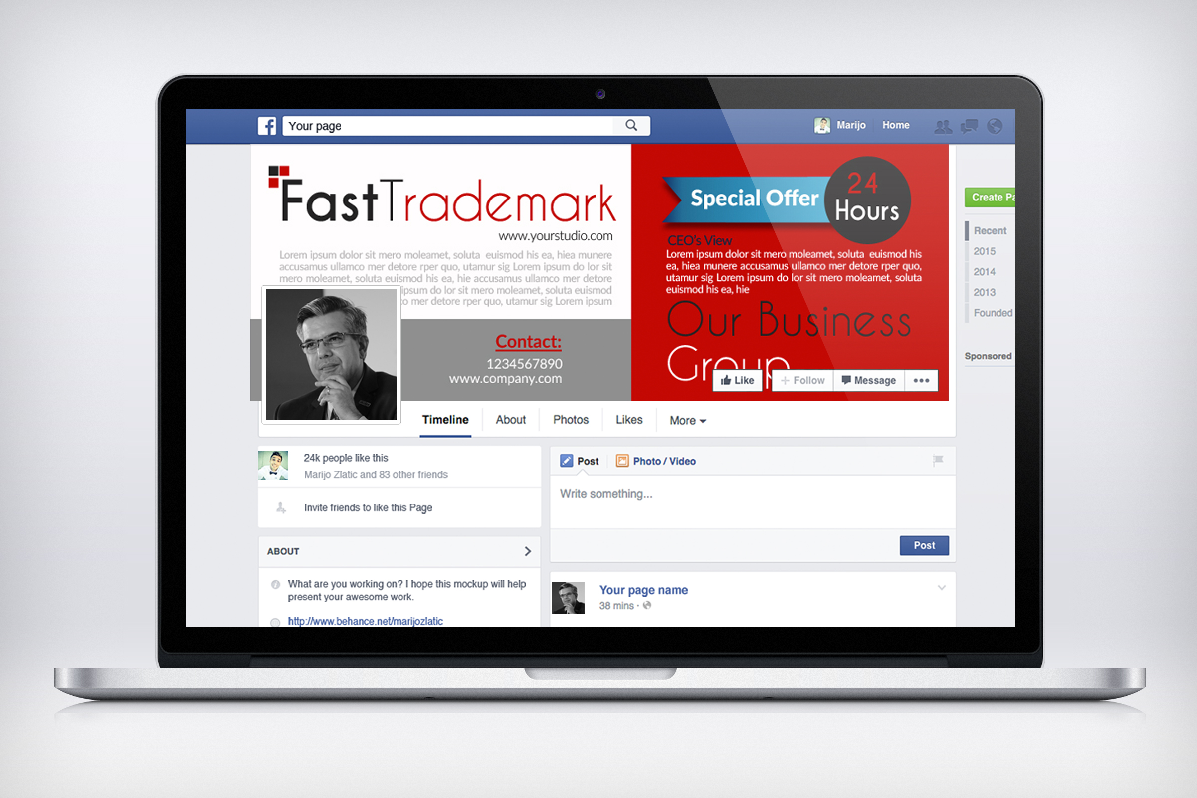 Business Solutions Consultant Facebook Cover example image 3