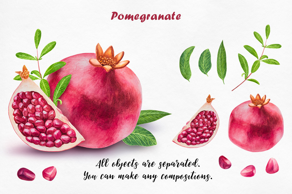 Watercolor Fruits collection example image 9
