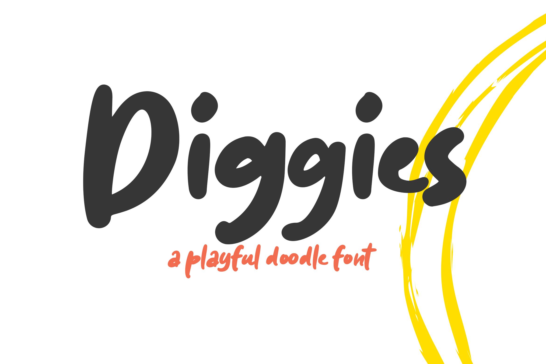 Diggies - A Playful Doodle Font example image 1