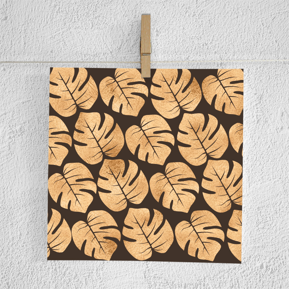 Copper Palm Leaves Paper example image 2