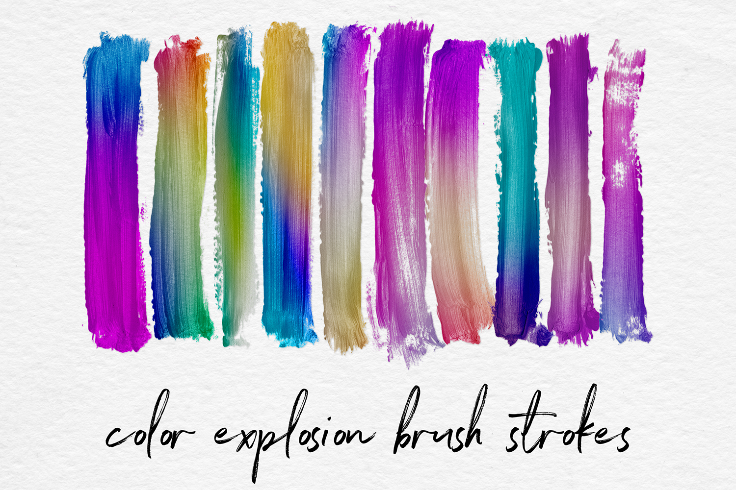 Colorful Gradient Brush Strokes example image 1