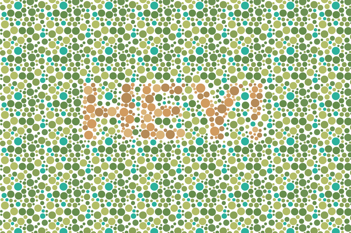 Color Blindness Test Typeface example image 6