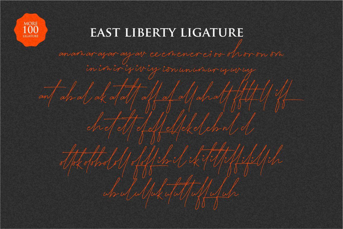 East liberty | Signature & sans serif example image 9