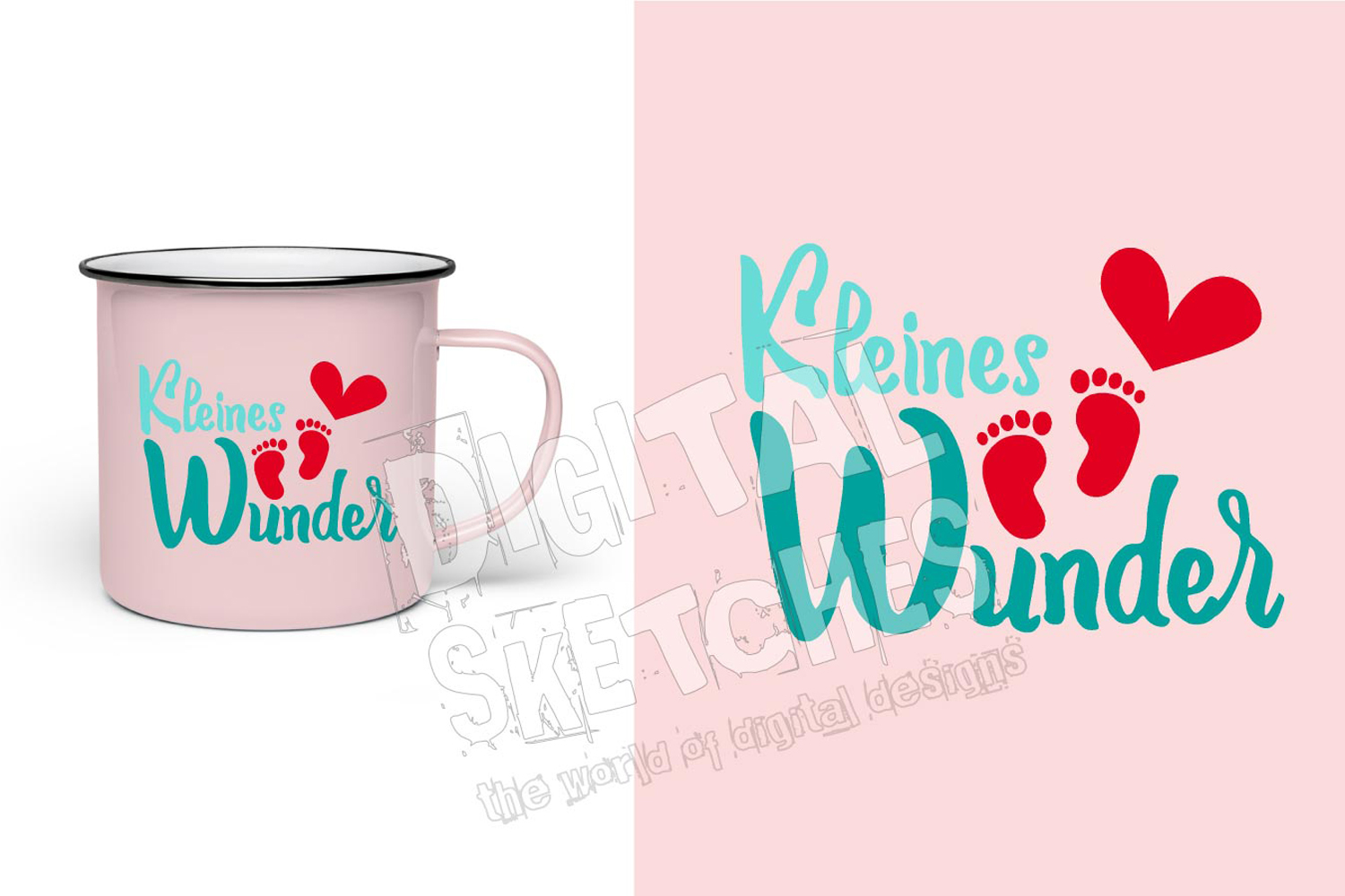 Saying Quote German Baby Feet Cut File Vector Graphics example image 3