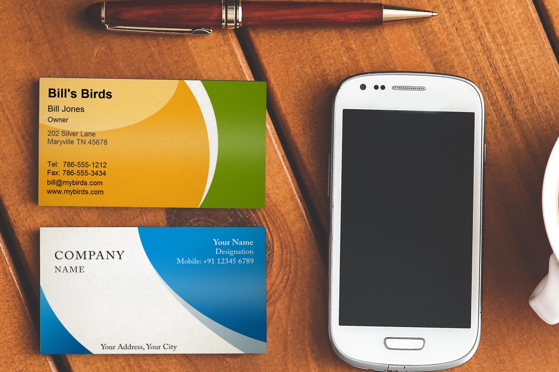 Photorealistic business card mockup set example image 8
