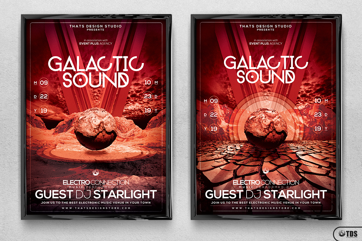 Galactic Sound Flyer Template V3 example image 8