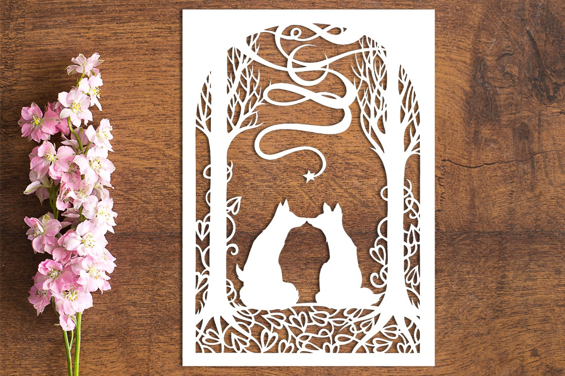 Infinity Moon - Paper Cutting Template example image 1