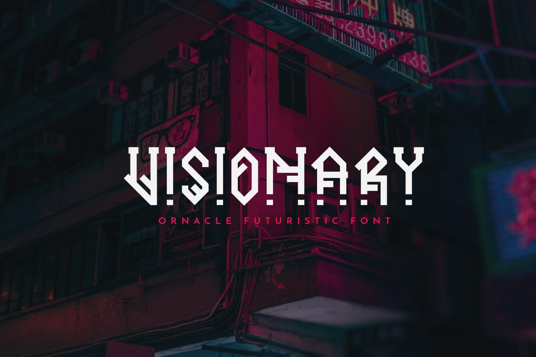Ornacle - Futuristic Font example image 4