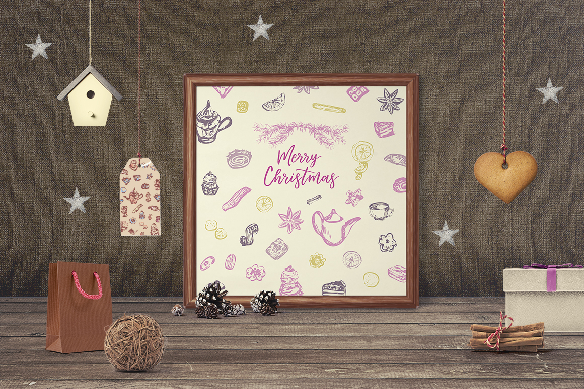 Sweet Christmas - vector example image 6