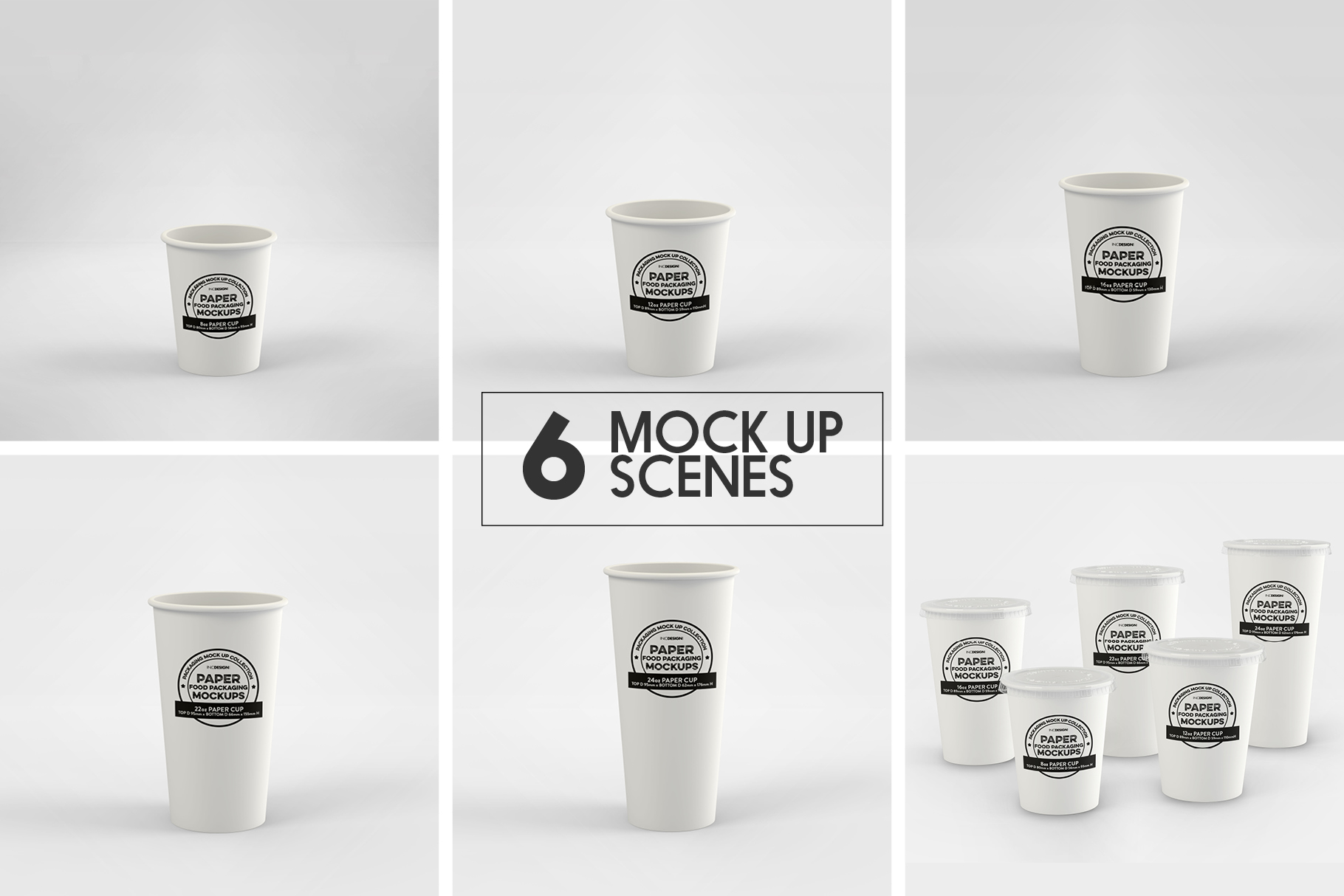 Paper Drink Cups Packaging Mockup example image 2