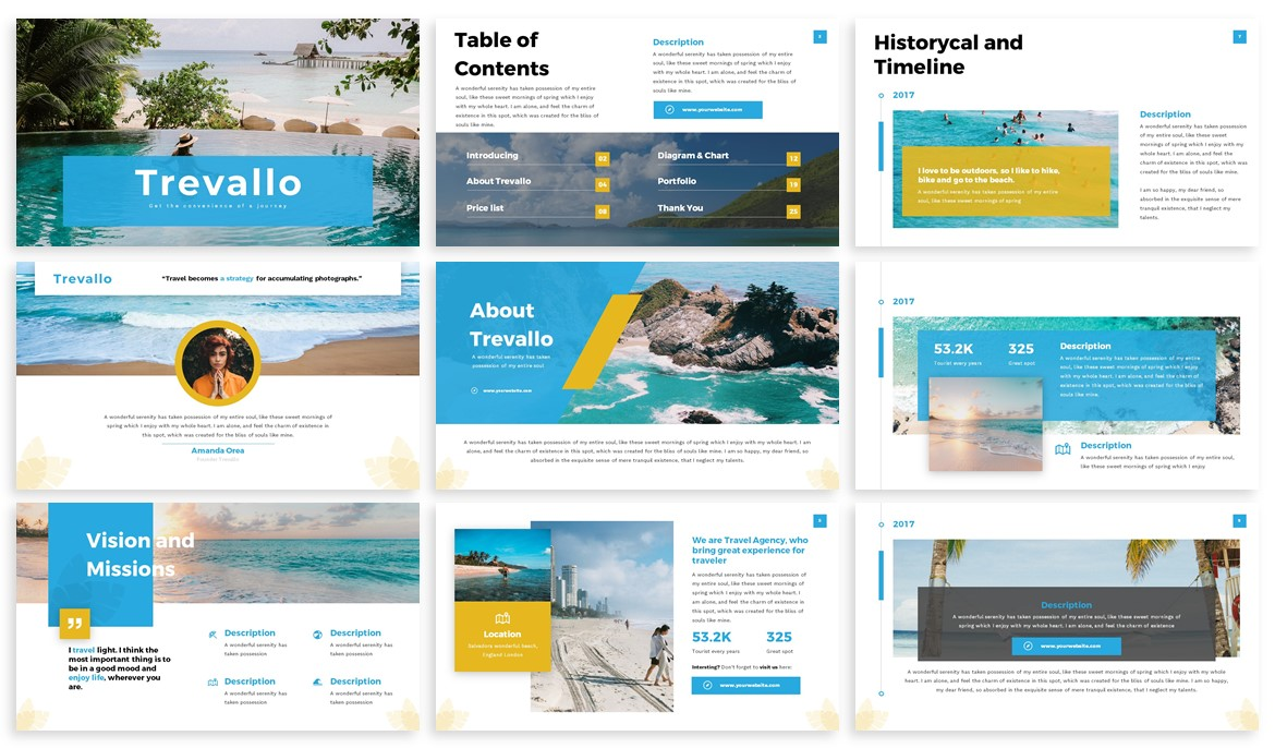 Trevallo - Summer Powerpoint Template example image 2