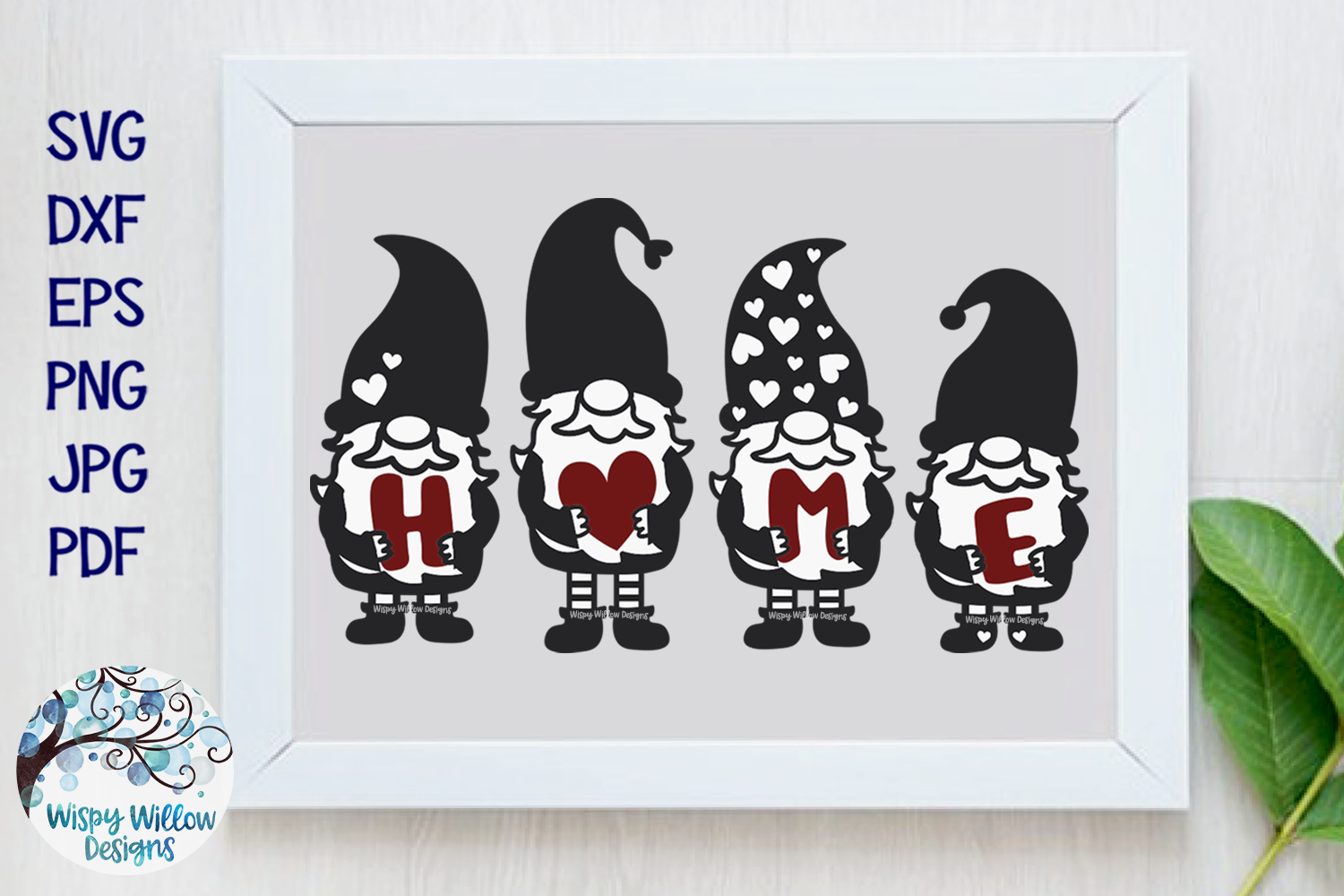 Gnomes Home SVG | Cute Gnomes Home Sign SVG Cut File example image 1