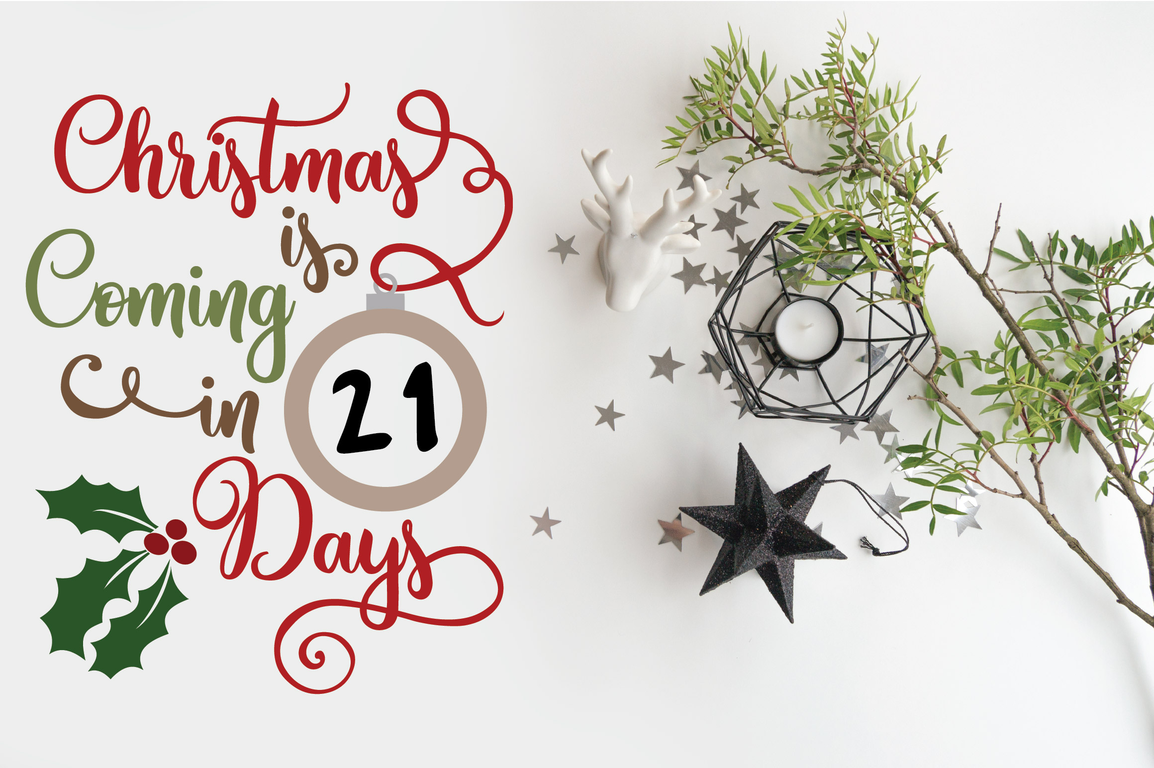 Christmas SVG Bundle with 10 Christmas Countdown Cut Files example image 7